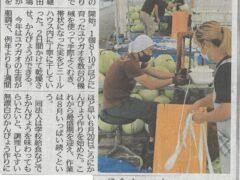 下野新聞(一面!)に掲載されました